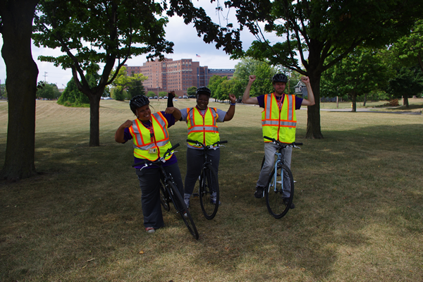 The Flint Urban Safety Corps put eyes on the street for safety with a regular bicycle patrol through the Stevenson neighborhood in Flint.