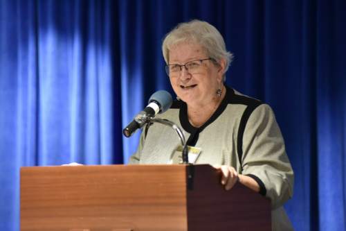 Sister Mary Ellen served for 19 years as the Executive Director of the St. Francis Cabrini Clinic in Detroit. She spoke of Peter's many contributions to the Free Clinics of Michigan.