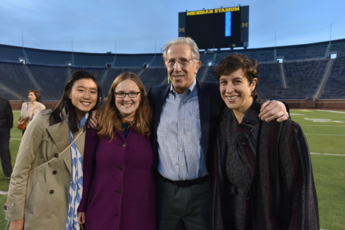 HMP Emeritus Professor, Rich Lichtenstein, with HMP alums and students