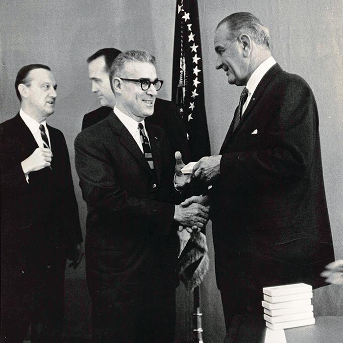 Seeman with President Johnson.