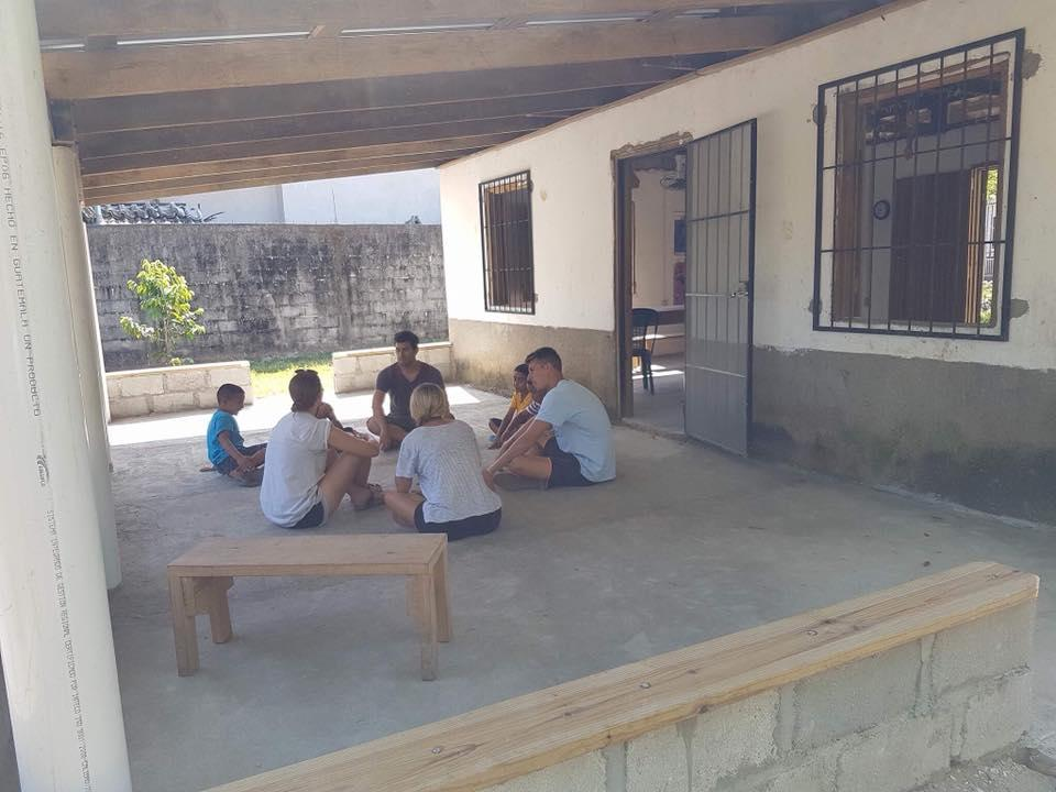 The completion of the project on the back of the school gave students, teachers and volunteers a shaded and protected spot.
