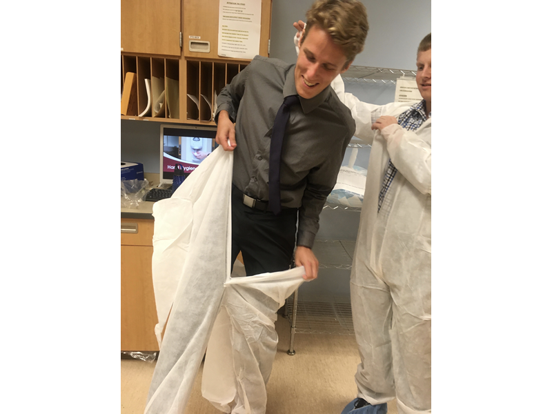 """The best part of my internship was: """"Experiencing what it is like to be in Infection Prevention behind the scenes, and getting to know everyone in the department."""" Liam Hicks, Hospital & Molecular Epidemiology MPH (2018)"""