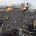 Workers burn e-waste to recover valuable metals.