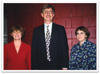 Photo of Noreen Clark, Francis Collins, and Pat Peyser