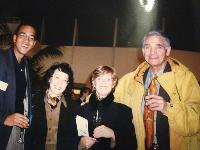 Noreen, with friends and family, commemorates the inaugural World Asthma Day 1998 in Barcelona, Spain