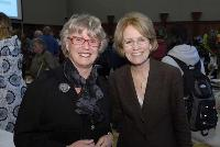 Photo of Dr. Noreen Clark and U-M President Mary Sue Coleman