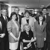 Noreen Clark and colleagues at 1996 Salk Lab dedication