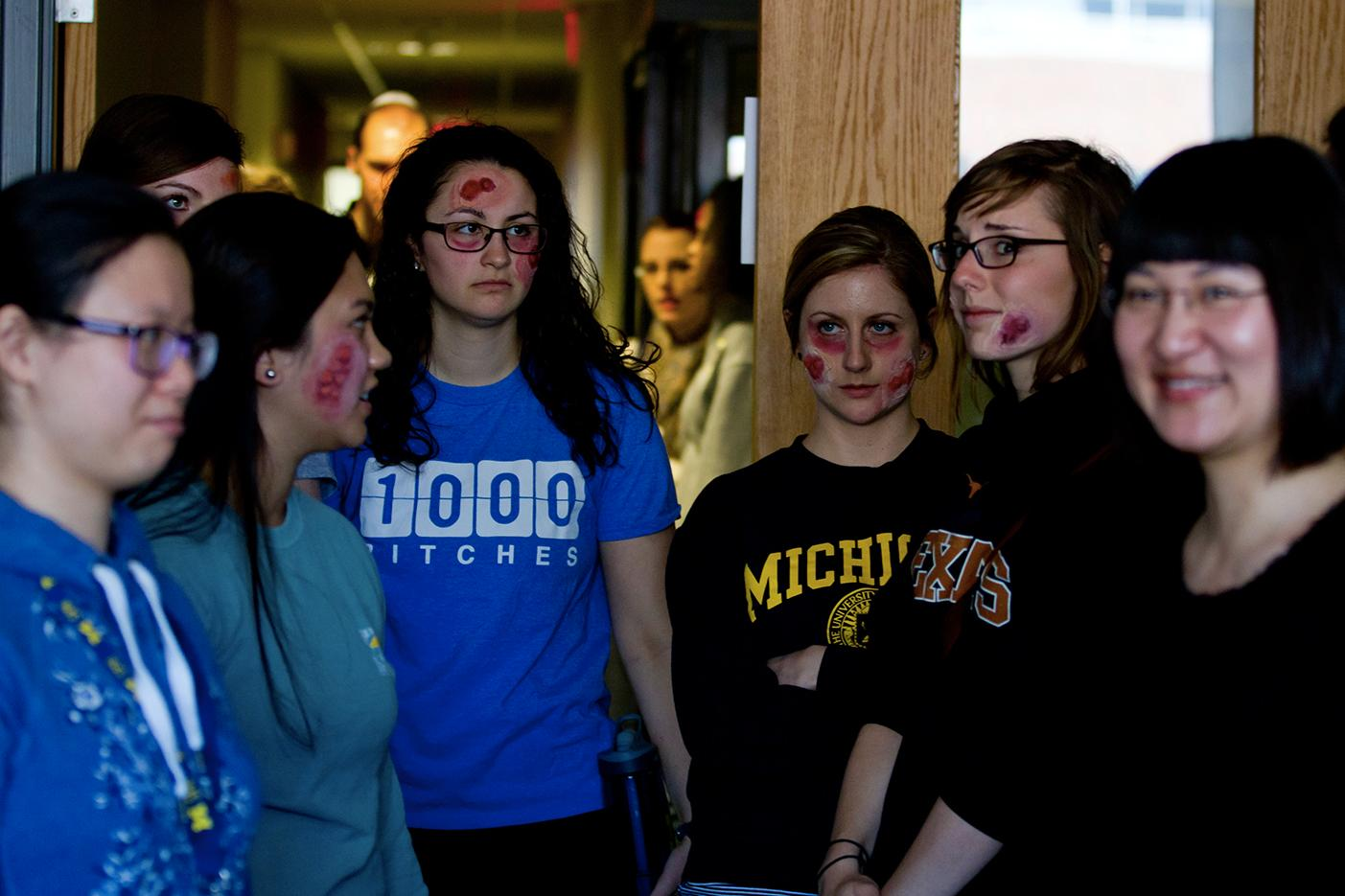 Students participate in the annual biopreparedness exercise.