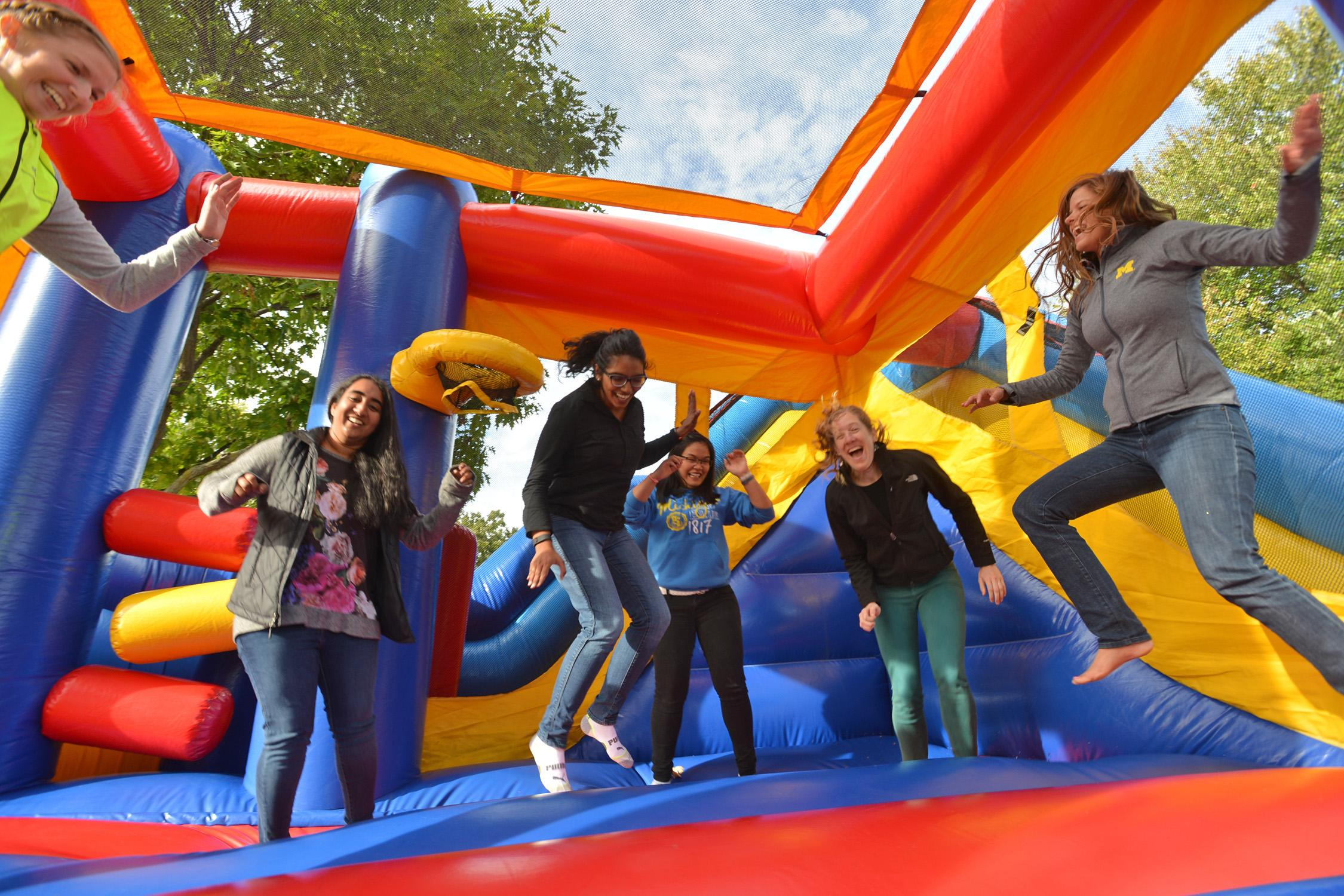 Students enjoy activities at SPH Fall Fest, held at Ann Arbor's Gallup Park.