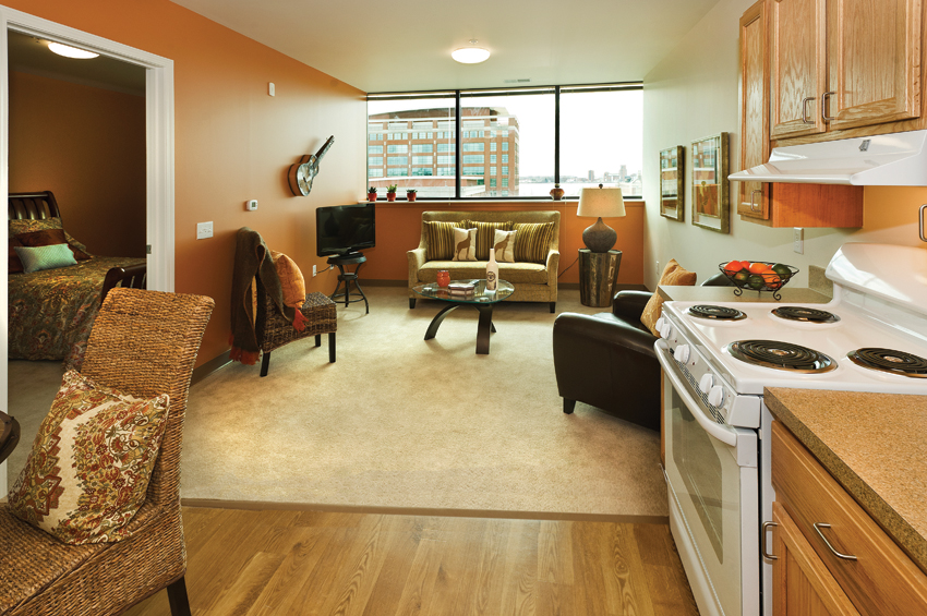 Detroit's only affordable assisted-living facility—and one of just two in the state of Michigan—Rivertown Assisted Living provides residents with two meals a day as well as basic utilities and access to round-the-clock care. Many apartments offer river views.