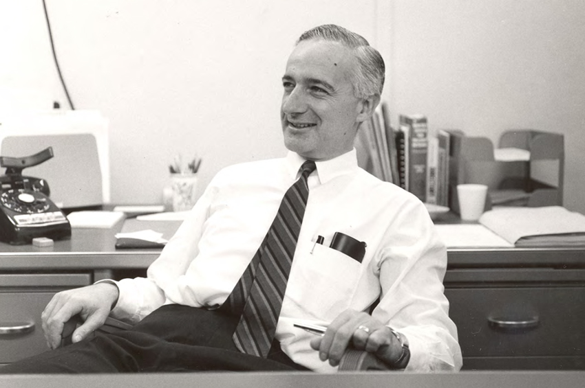 Kahn in his office in the early 60s