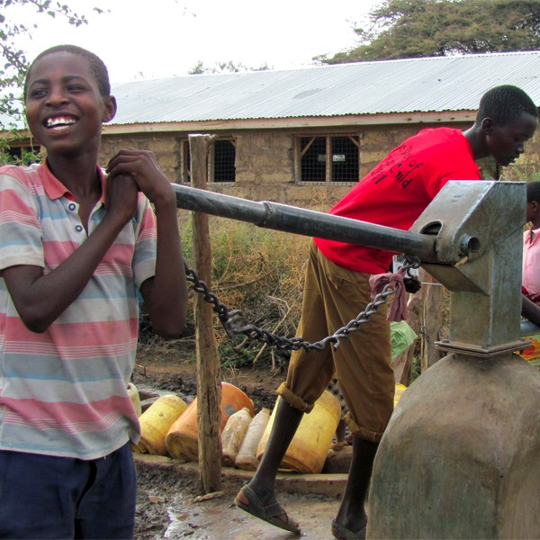 Water Pump-Boy smiles
