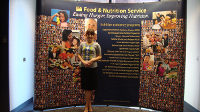Megan Bensette, M.P.H. student in HBHE: As a public affairs intern in the Midwest Regional Office of U.S. Department of Agriculture's Food and Nutrition Service, worked with partner organizations and media to promote the 15 nutrition-assistance programs funded by the U.S.D.A.