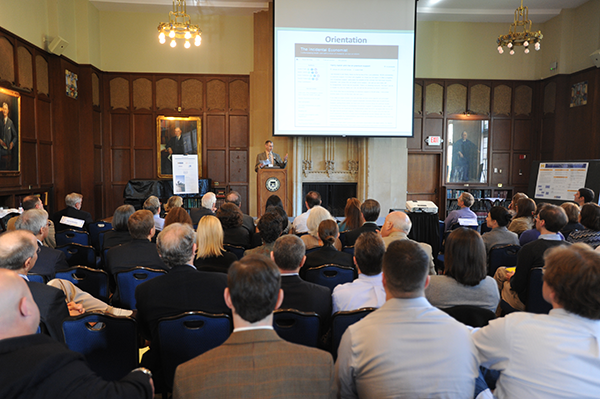 Alumni, faculty, students and friends gathered for a day-long symposium to share ideas about applying research to improve the health system:  past,  present and future.