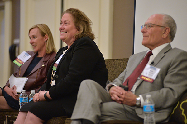 Nicole Rubin, Founder and Principal, Impact Solutions; Christy Lemak, Professor and Chair, Health Services Administration at UAB; Mark Rosenblum, Chair Emeritus, Department of Neurosurgery, Henry Ford Health System.