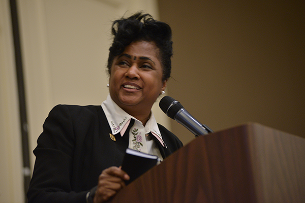 Kimberlydawn Wisdom, Senior Vice President of Community Health & Equity, Chief Wellness and Diversity Officer, Henry Ford Health System and Michigan's First Surgeon General.