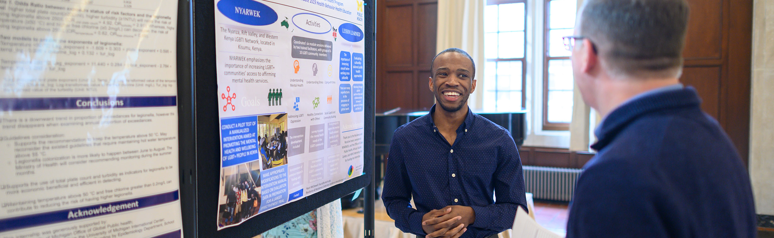 student at poster session