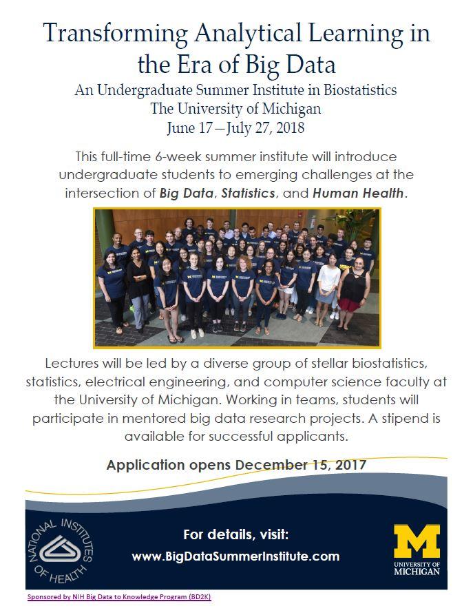 Application big data summer institute bdsi 2018 flyer spiritdancerdesigns Image collections