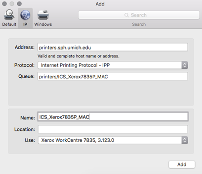 Installing Xerox Printers for OSX | Computing & Instructional