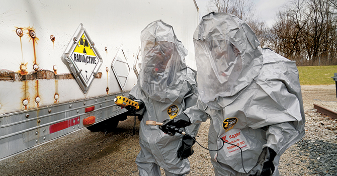 Michigan Public Health students in the Environmental Science program participating in HAZWOPER training
