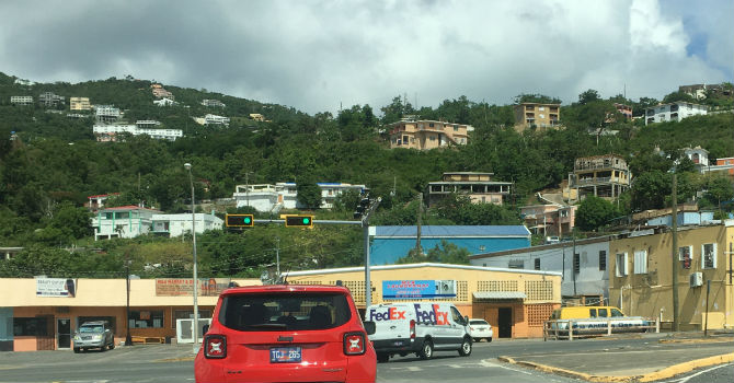 USVI - view from car
