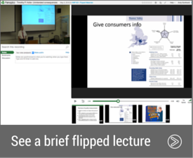 See an example of a brief flipped lecture of a guest speaker