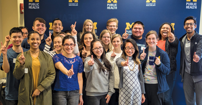 First-generation student social at Michigan Public Health