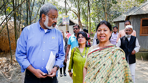 Dean and faculty visit Bangladesh to explore public health collaborations