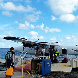 PHAST members boarding plane to the U.S. Virgin Islands