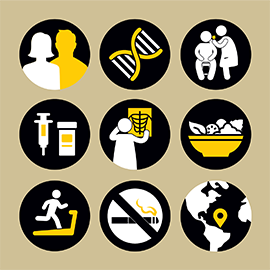 illustration of cancer prevention actions