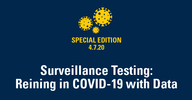 Surveillance Testing: Reining in COVID-19 with Data