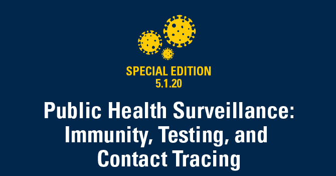 Public Health Surveillance: Immunity, Testing, and Contact Tracing
