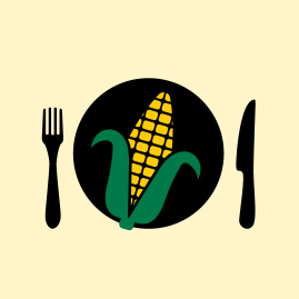 illustration of corn on a dinner table