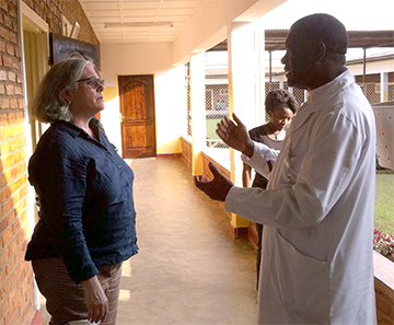 Mukwege with Harlow