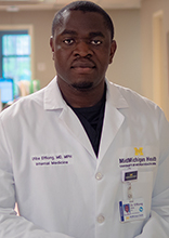 Utibe Effiong, alum of Michigan Public Health and physician at the MidMichigan Health Medical Center in Mount Pleasant
