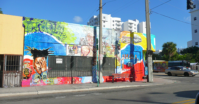 Mural in Little Haiti, a neighborhood in Miami.