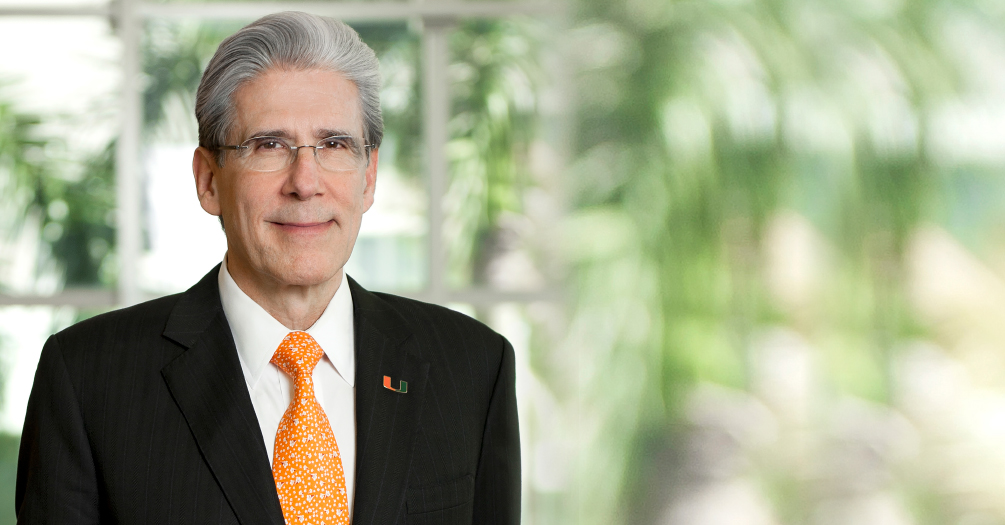 Dr. Julio Frenk, MPH, PhD, President of the University of Miami, Florida