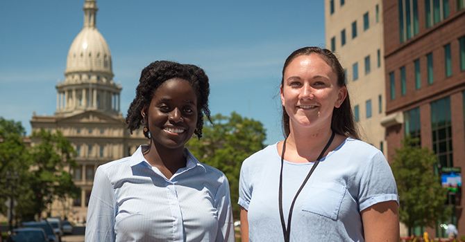 Two Interns in Lansing, Two Amazing Experiences