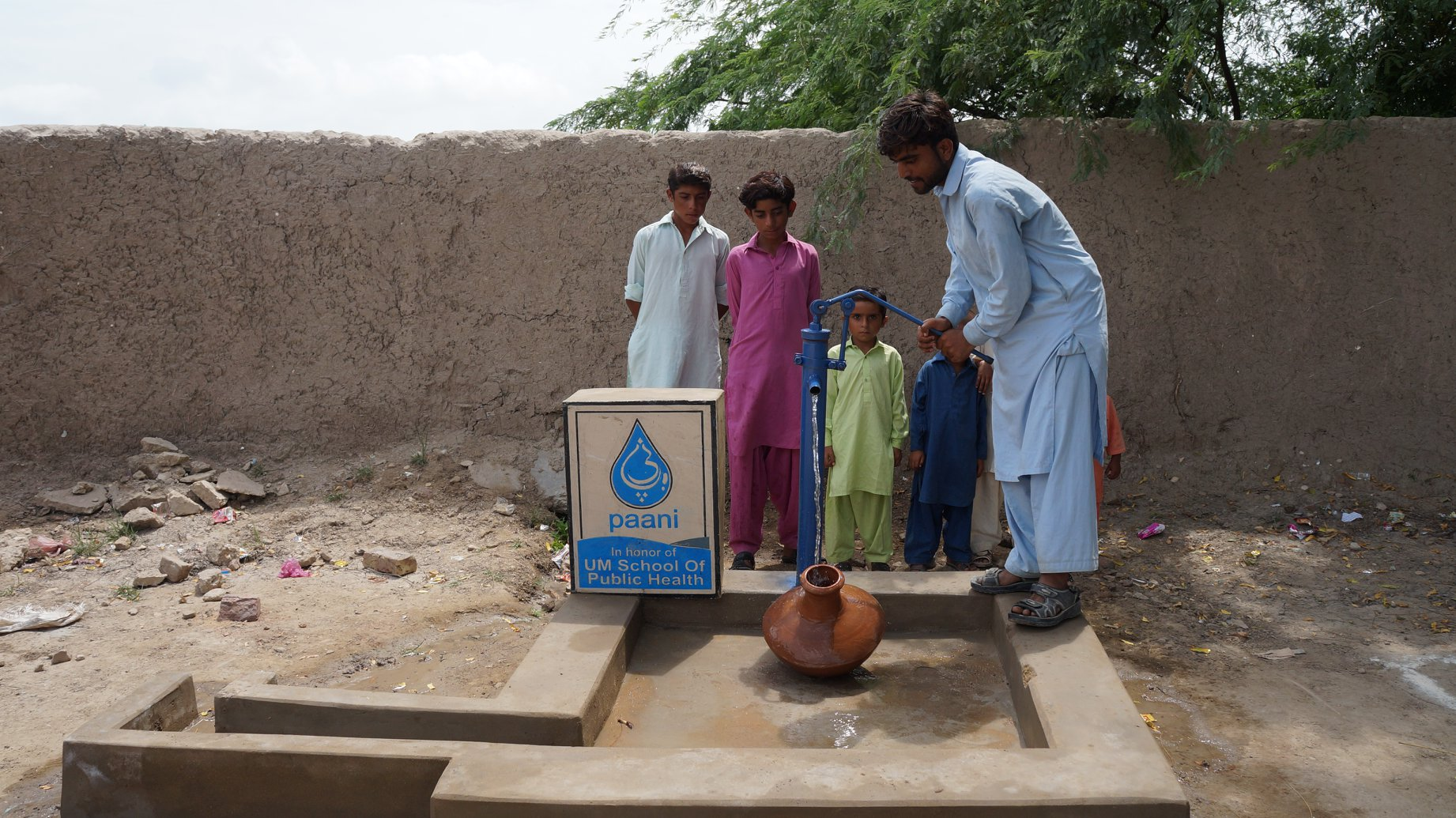 well being operated in rural Pakistan
